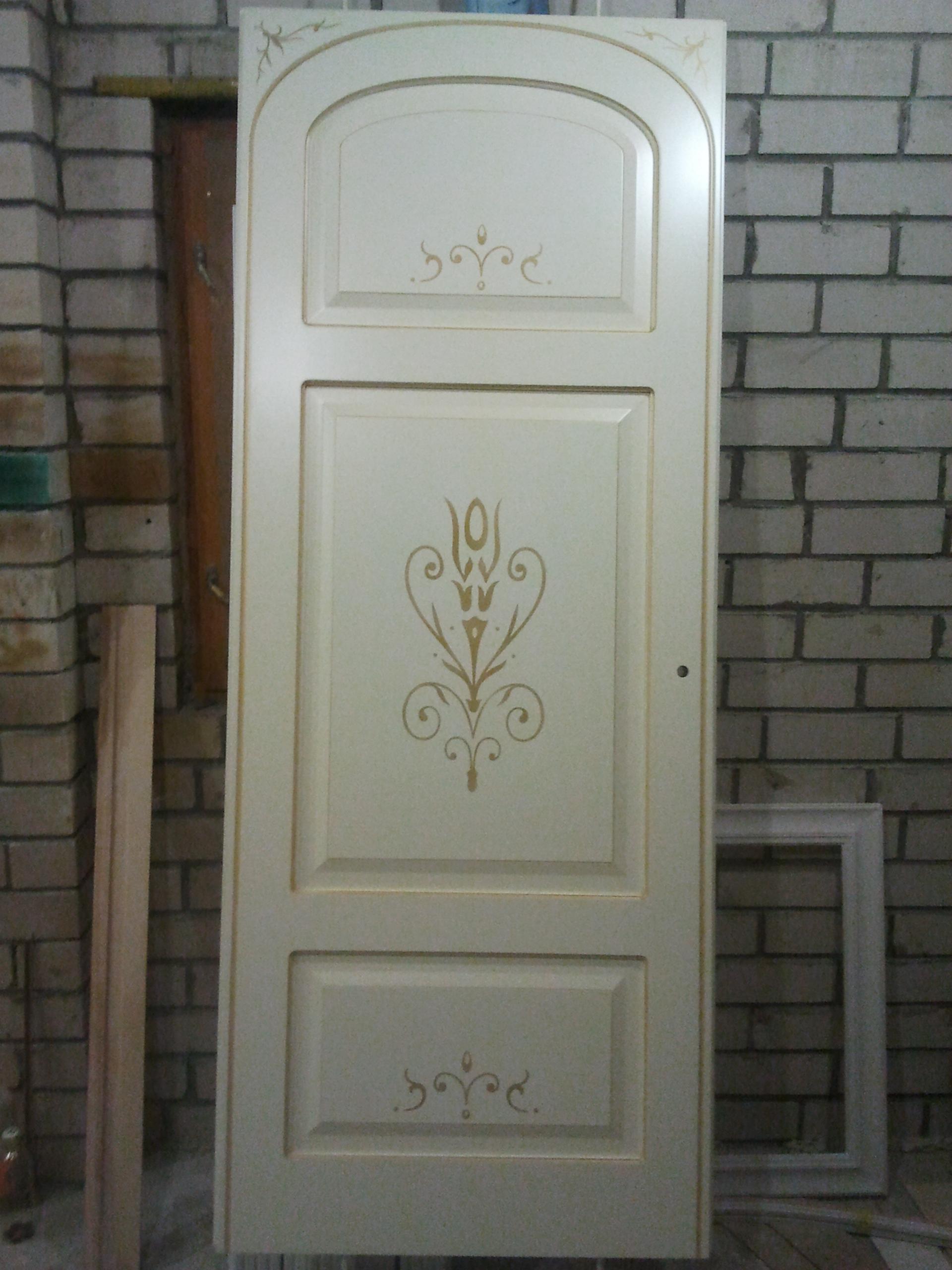 Двері з елементами різьблення - фото 32