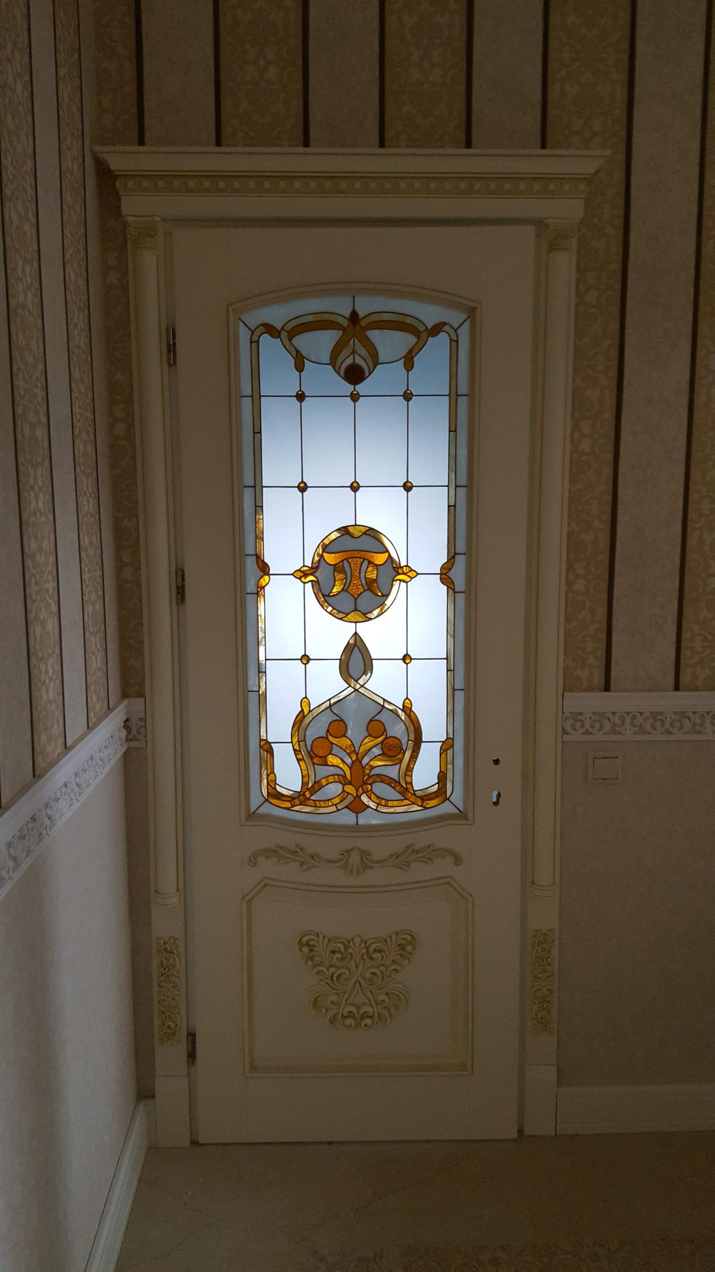 Двері з елементами різьблення - фото 20