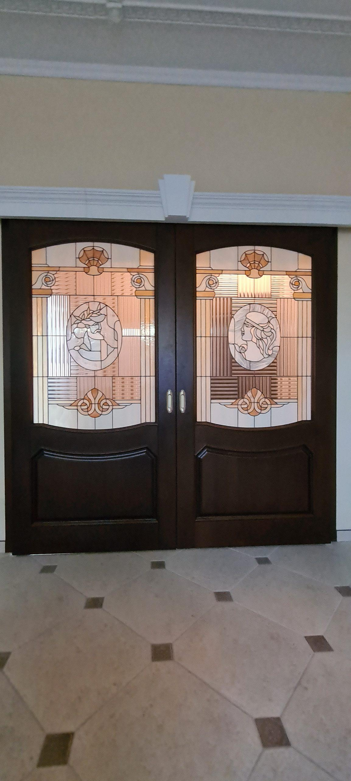 Двери с витражами - фото 17