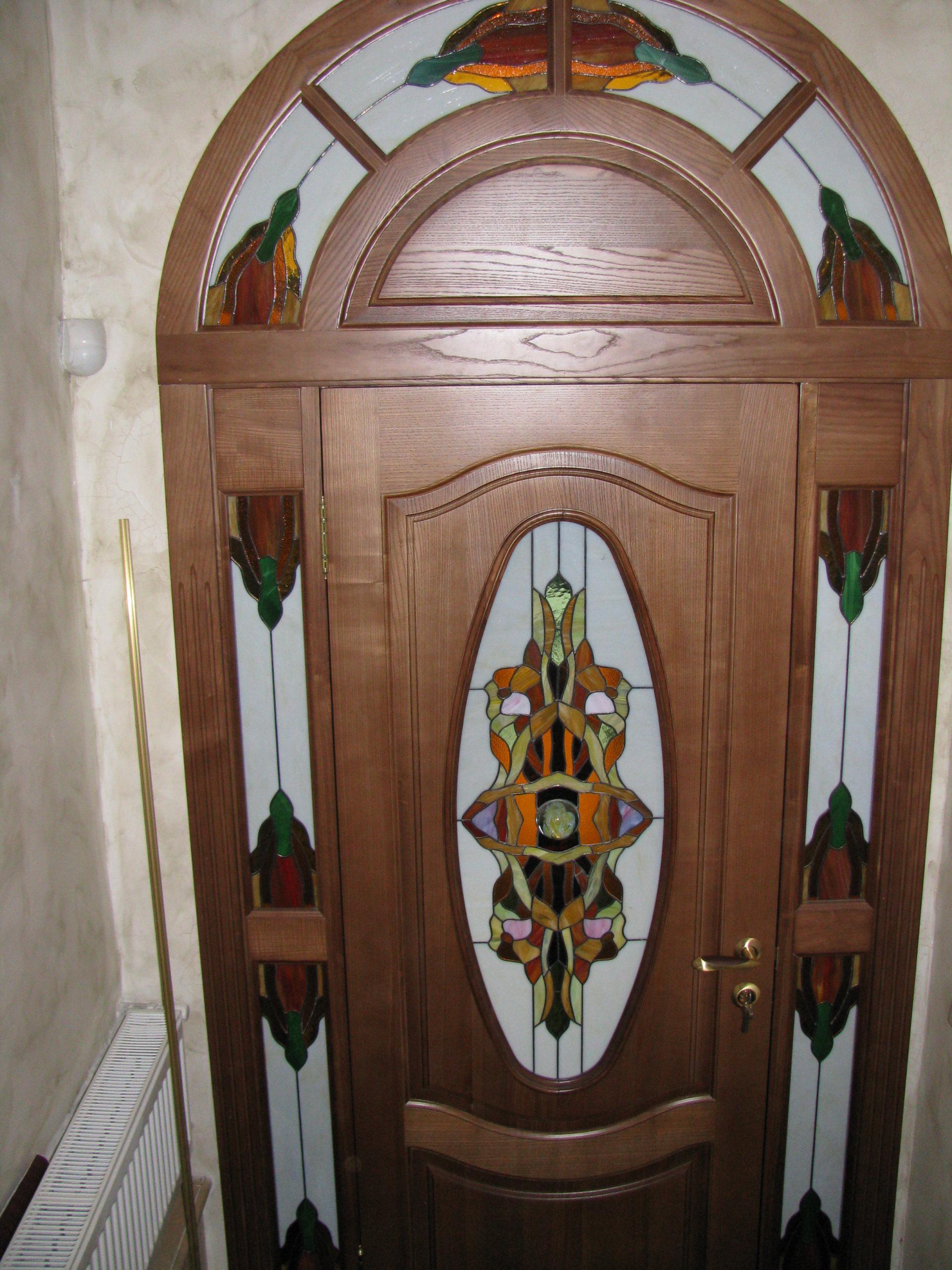 Двери с витражами - фото 18